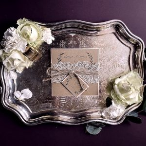 evening wedding invitation