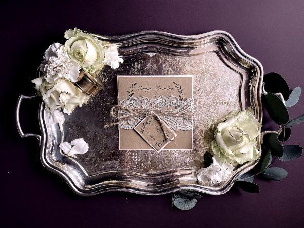 evening wedding invitation