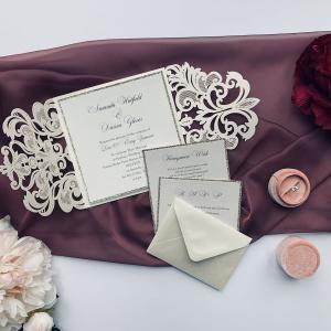 laser cut wedding invitation