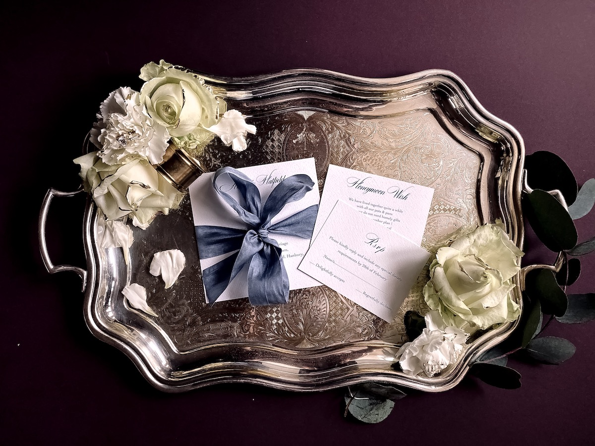 silk ribbons wedding stationery collection