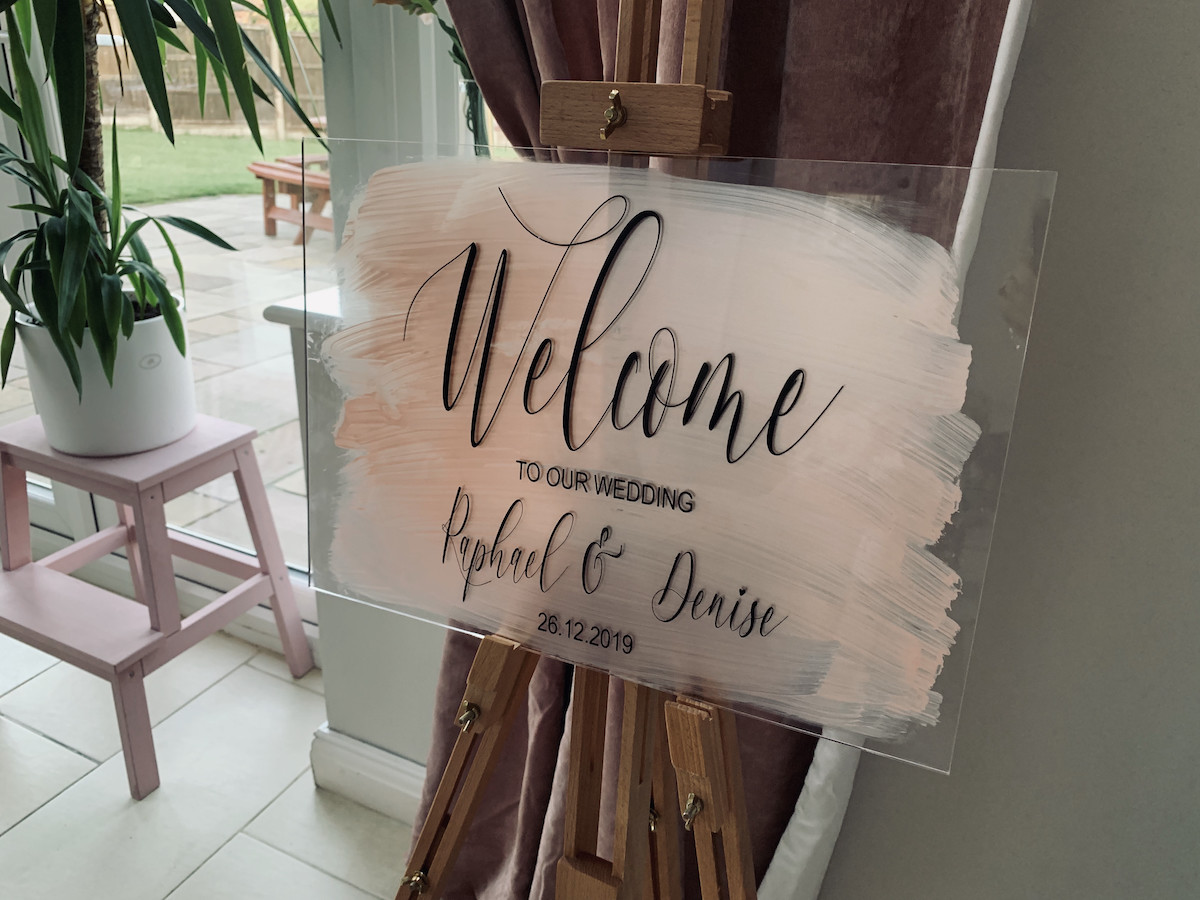 Wedding Welcome Sign.Welcome Sign Table Plan Clear Acrylic Sign