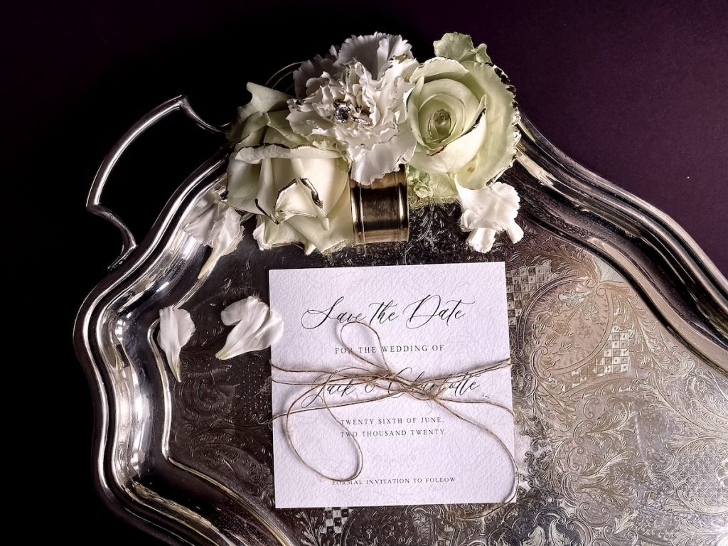 luxury elegant save the date