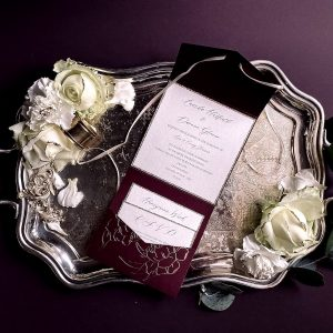 wedding elegant pocketfold invitation suite