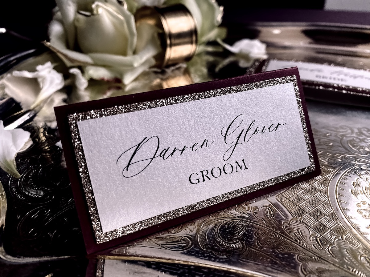wedding place cards place names