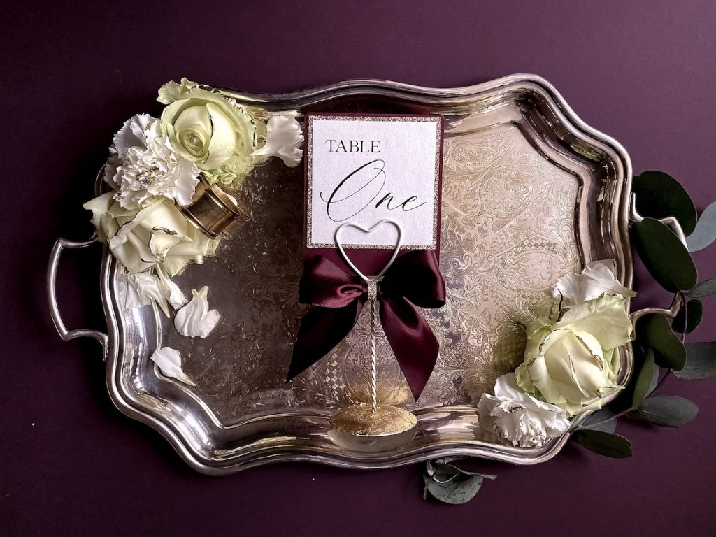 table numbers wedding day seating plan