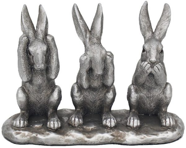 Reflections Silver See, Speak & Hear No Evil Hares
