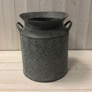 Distressed Metal Daisy Churn, 34.5cm