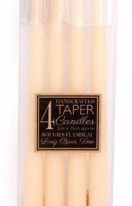 25cm Taper Candles, Ivory